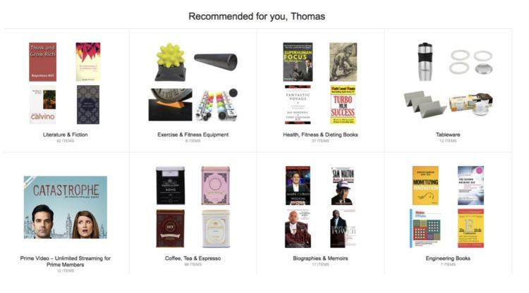 Amazon - umetna inteligenca - priporočeni produkti