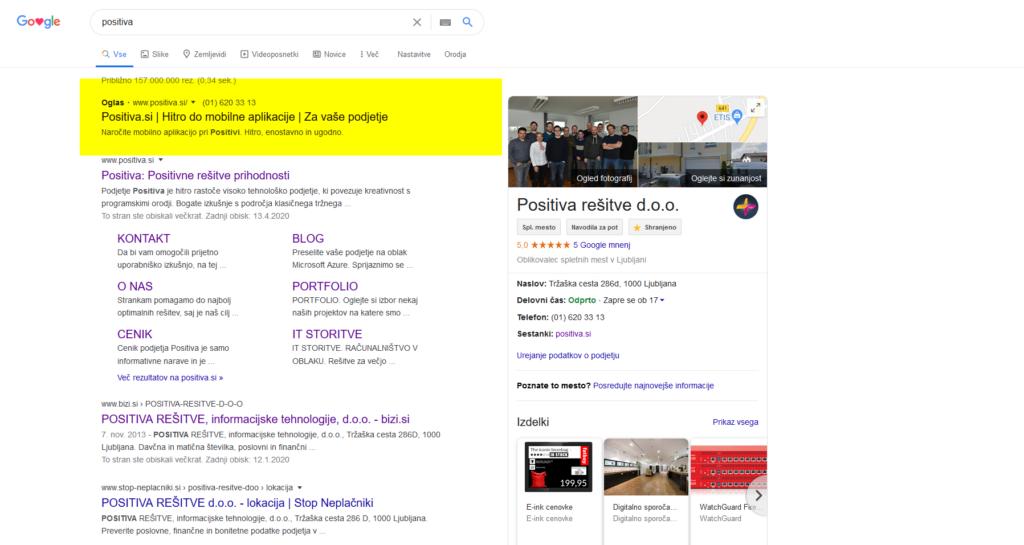 google-oglaševanje-positiva