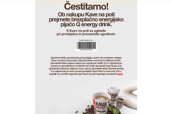 petrol kava na poti nagrajuje positiva rešitve d.o.o. 2
