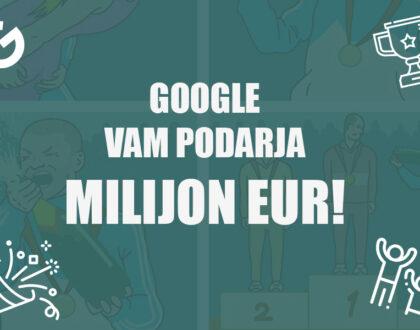 naslovnica google vam podarja milijon eur